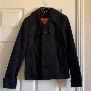 Black short pea-coat style jacket